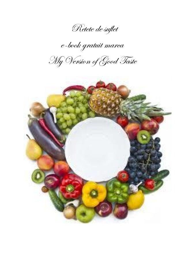 Retete de suflet e-book gratuit marca My Version of Good Taste