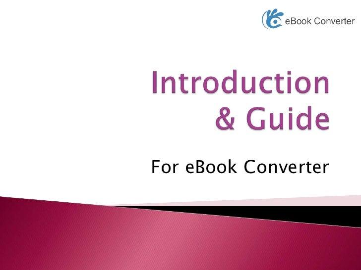 For eBook Converter