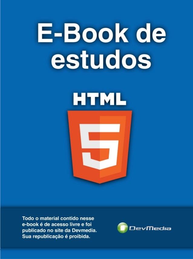 E-book sobre HTML 5 (Devmedia)