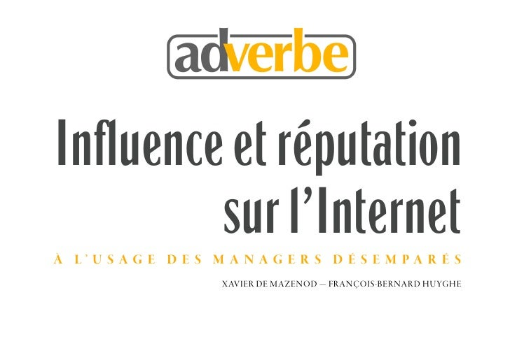 Ebook Influence et reputation sur Internet