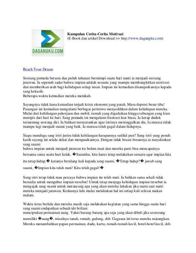 Kumpulan Cerita-Cerita Motivasi (E-Book dan artikel Download >> http://www.dagangku.com)  Reach Your Dream Seorang pemuda ...
