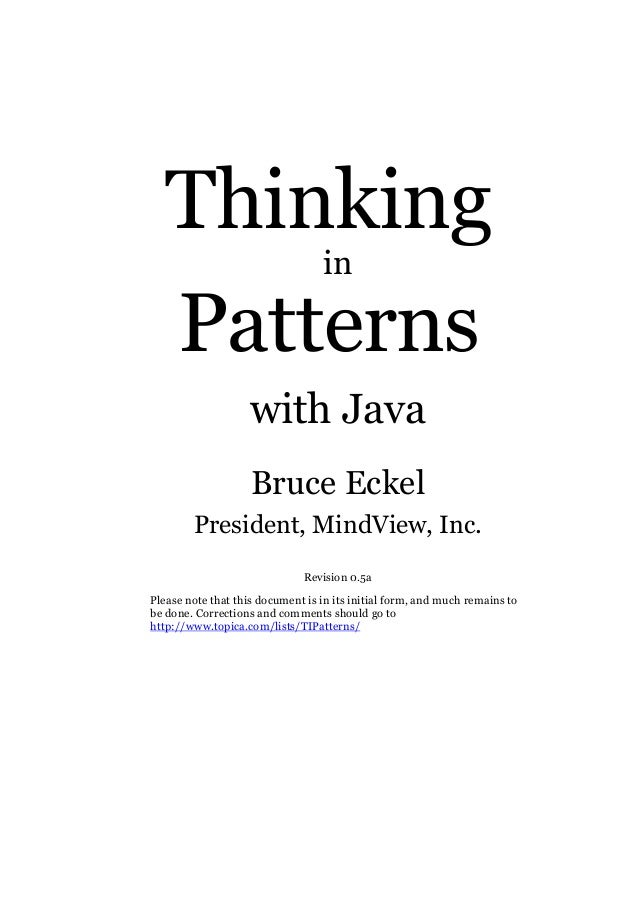 (E book   pdf) thinking in patterns with java