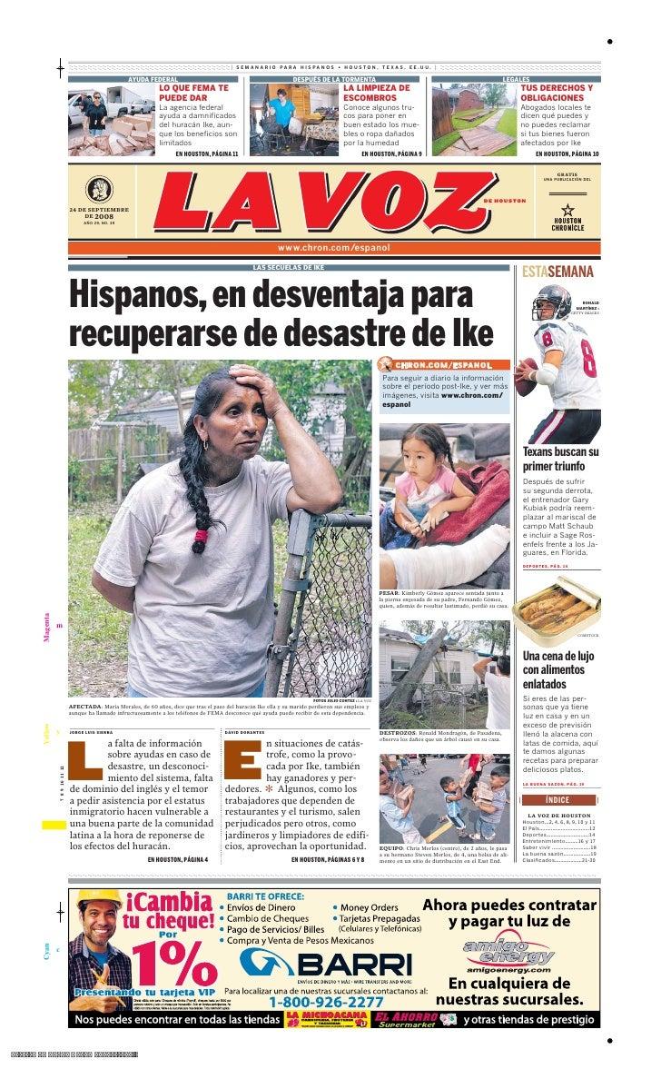 Hispanos, en desventaja para recuperarse del huracán Ike