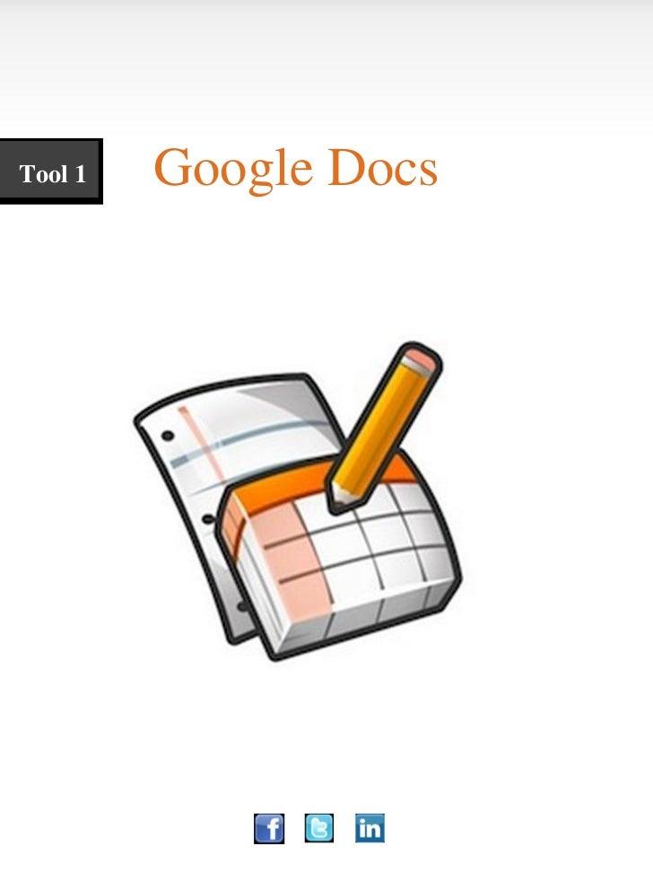 Tool 1   Google Docs
