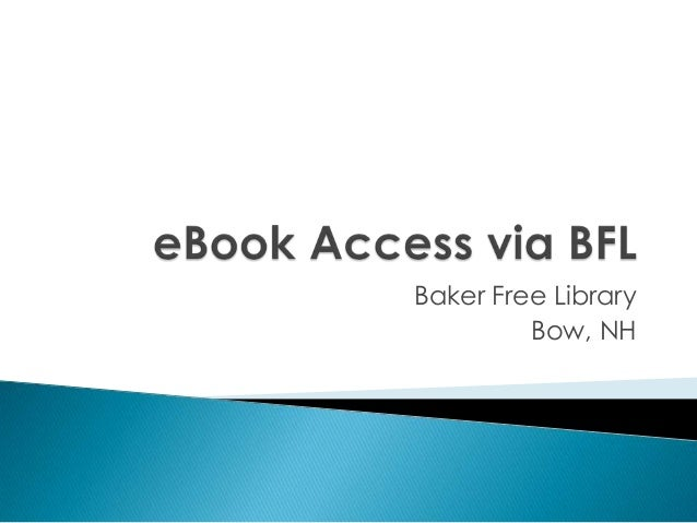 eBook Resources at BFL