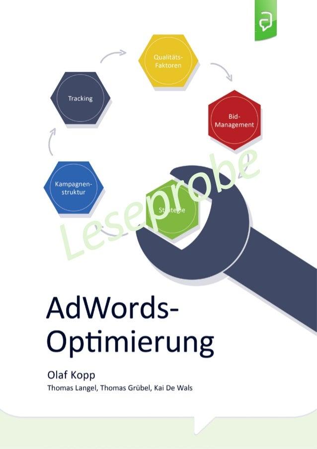 Leseprobe AdWords Optimierung E-Book Olaf Kopp