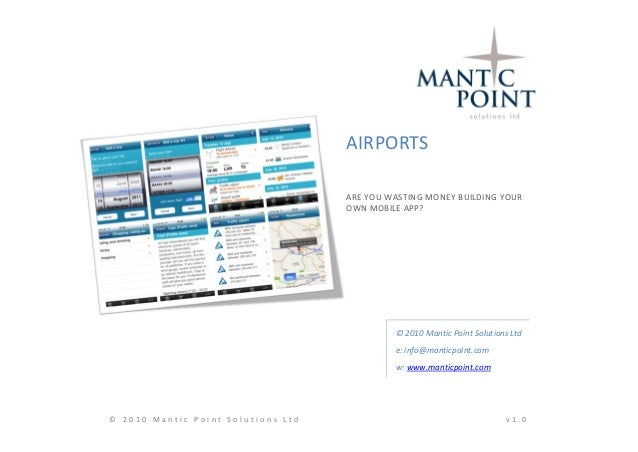Airports, are you wasting money building your own mobile app