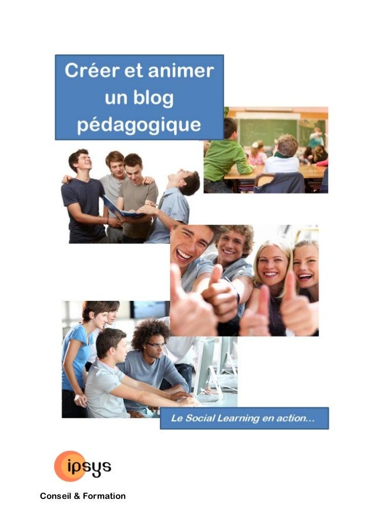 E-book : créer, animer, exploiter un blog pédagogique, le Social learning en action