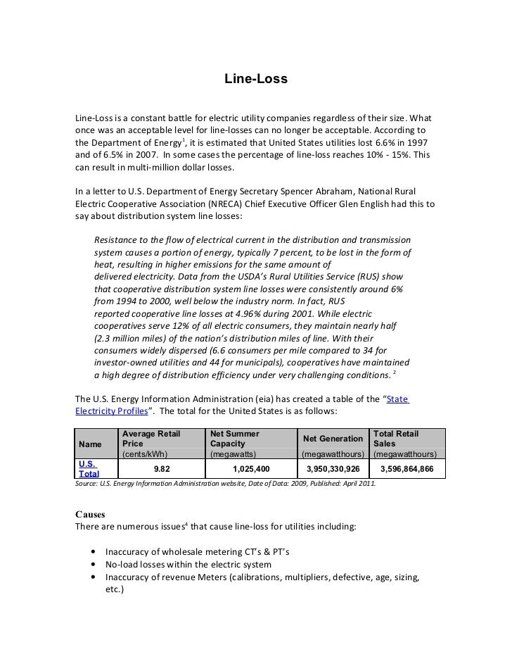 Transmission Line Loss - Report