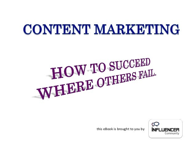 eBook Content marketing how to succeed where others fail