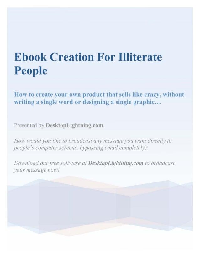 Ebook creationforilliteratepeople