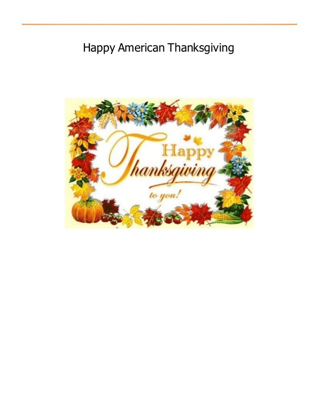 Happy American Thanksgiving