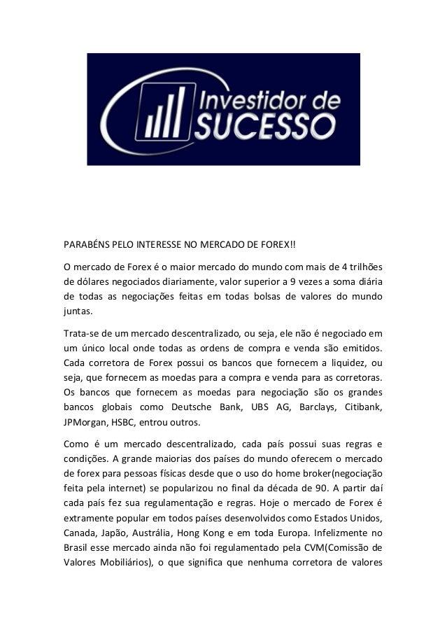 Como operar forex no brasil