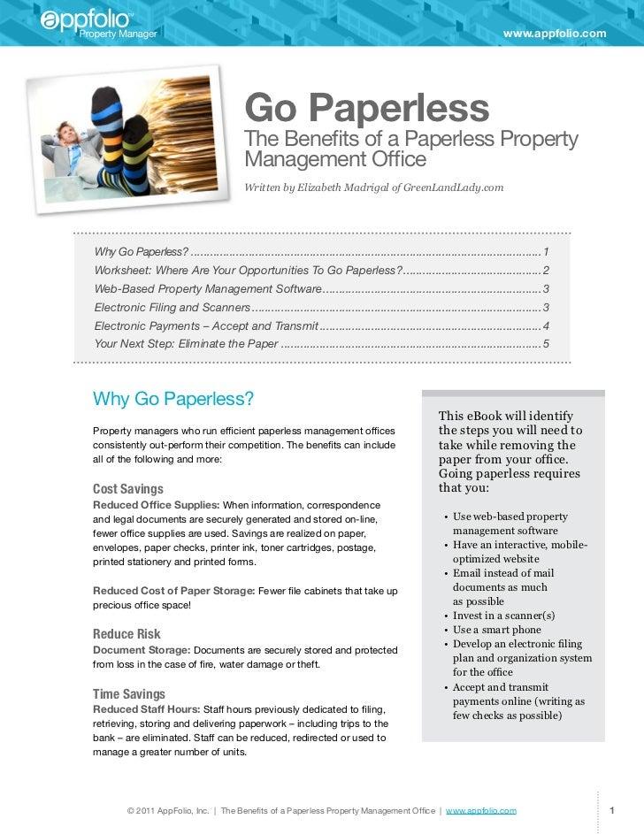 www.appfolio.com                                          Go Paperless                                          The Benefi...