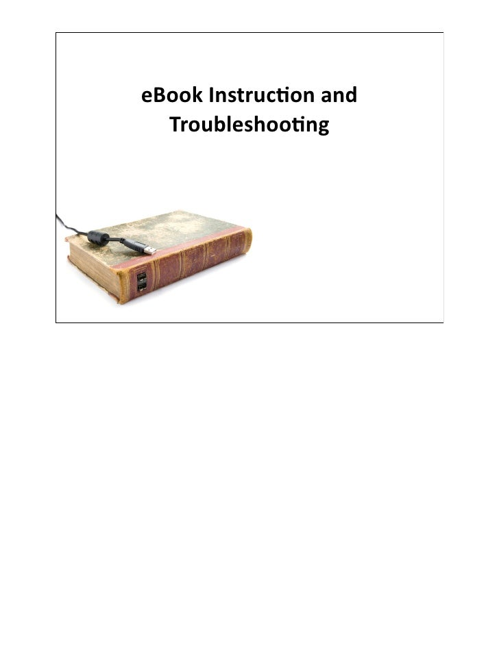 MLA - eBook Instruction and Troubleshooting