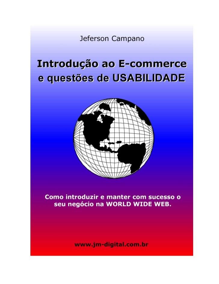 E-Book Introdução ao E-commerce e Questões de Usabilidade: Como Introduzir e Manter com Sucesso o seu Negócio na World Wide Web