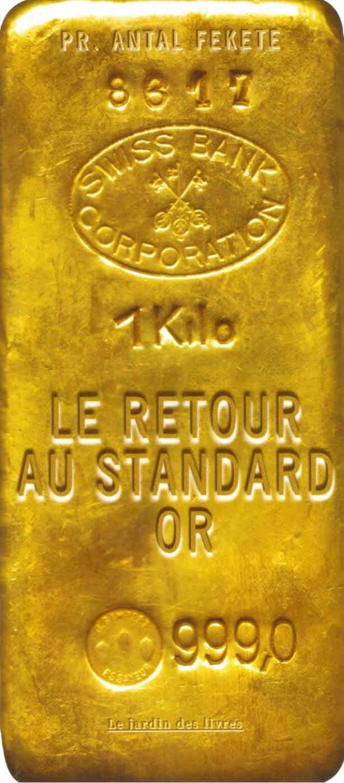 Le Retour au standard Or les raisons pour lesquelles le standard-or va remplacer l'argent-papier, et pourquoi l'économie m...