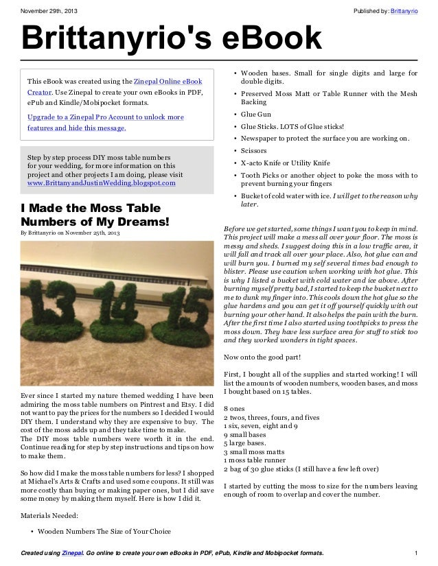 November 29th, 2013 Published by: Brittanyrio Created using Zinepal. Go online to create your own eBooks in PDF, ePub, Kin...
