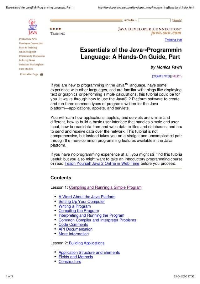 comparison between programming languages pdf