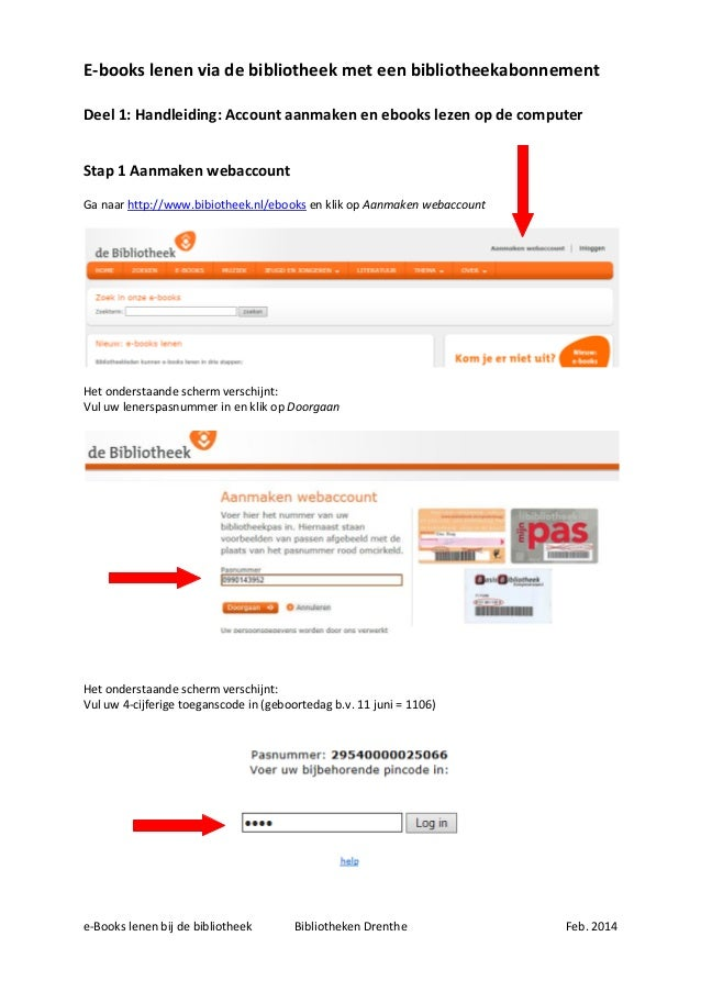 Ebookplatform account aanmaken en ebooks lezen op de computer