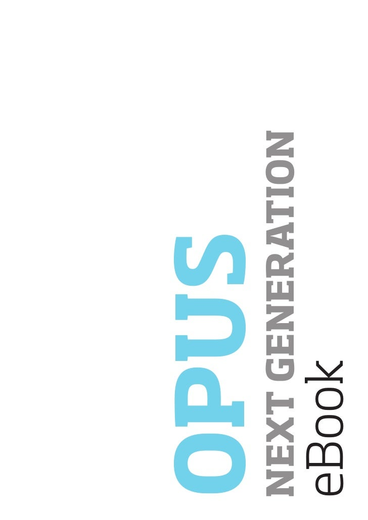 OPUS NEXT GENERATION eBook