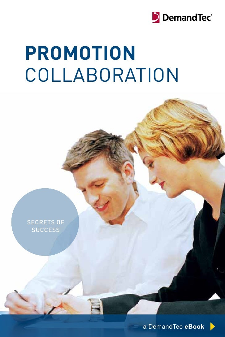 promotion collaboration     secrets of  success                  Chapter Title Here   1               a DemandTec eBook