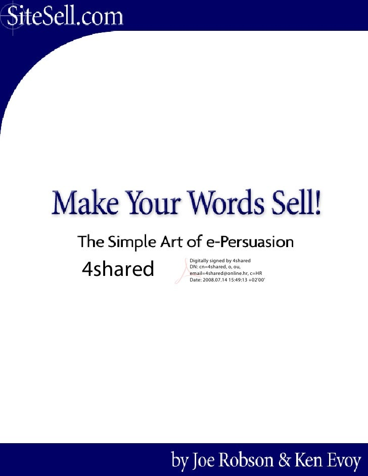 Ebookprovider.co.cc joe robson   make your words sell!