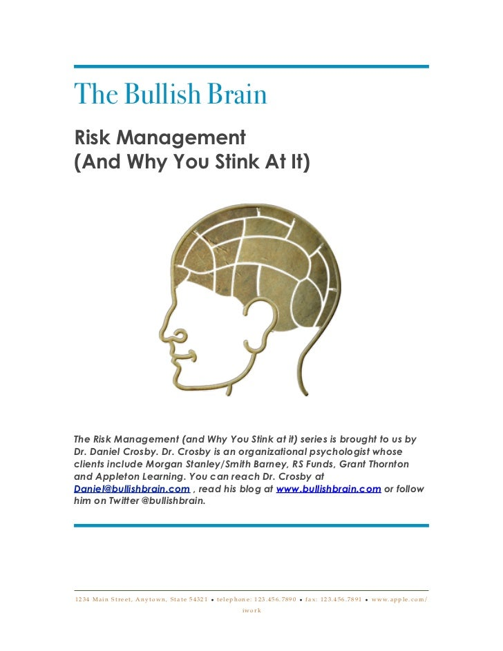 The Bullish BrainRisk Management(And Why You Stink At It)The Risk Management (and Why You Stink at it) series is brought t...