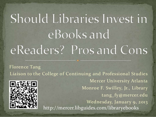 Should Libraries Invest in eBooks and eReaders? Pros and Cons