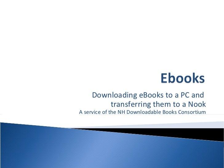 eBooks on a PC & Nook Transfer