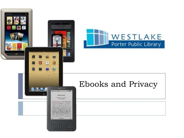 Ereaders and privacy