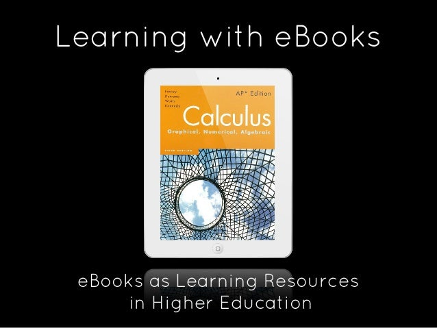 E books as learning resources for higher Education