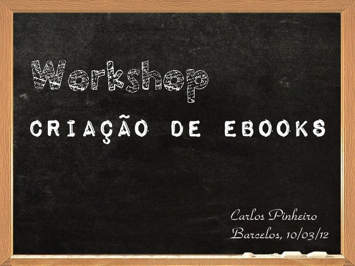Workshop Criação de Ebooks