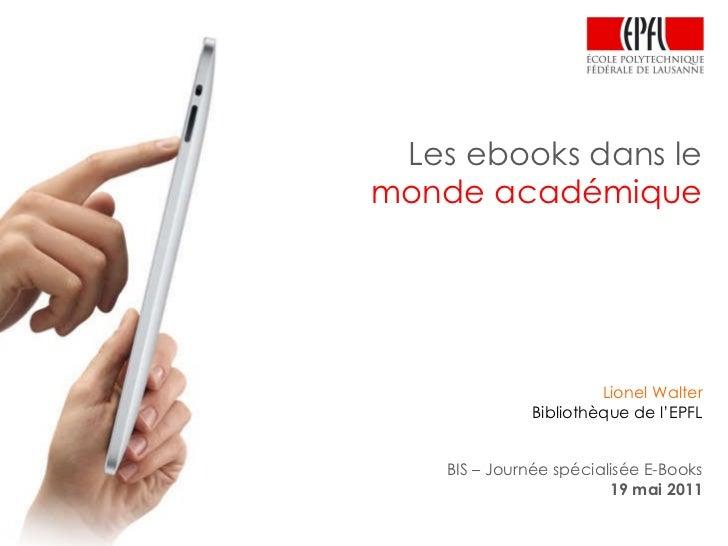 Les ebooks dans lemonde académique