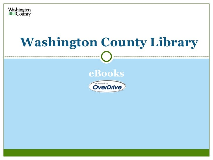 Washington County Library         eBooks