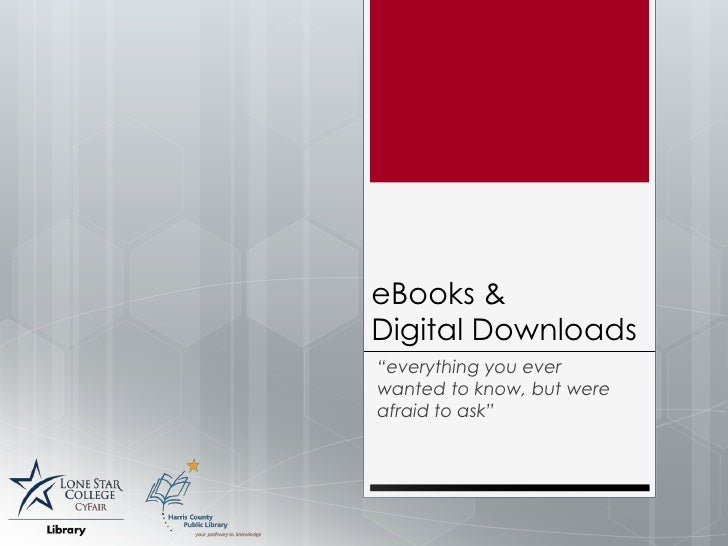 E-Books & Digital Downloads