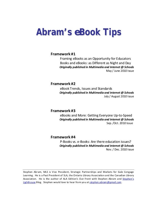 Ebooks framewear