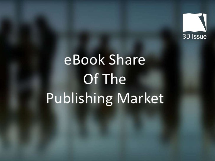 eBook share of the publishing market