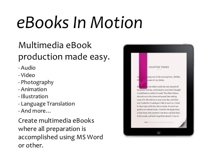 E books in motion executive overview short version 2