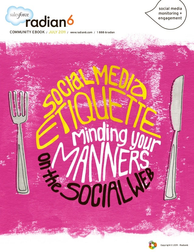 Social Media Etiquette – Minding Your Manners on the Social Web