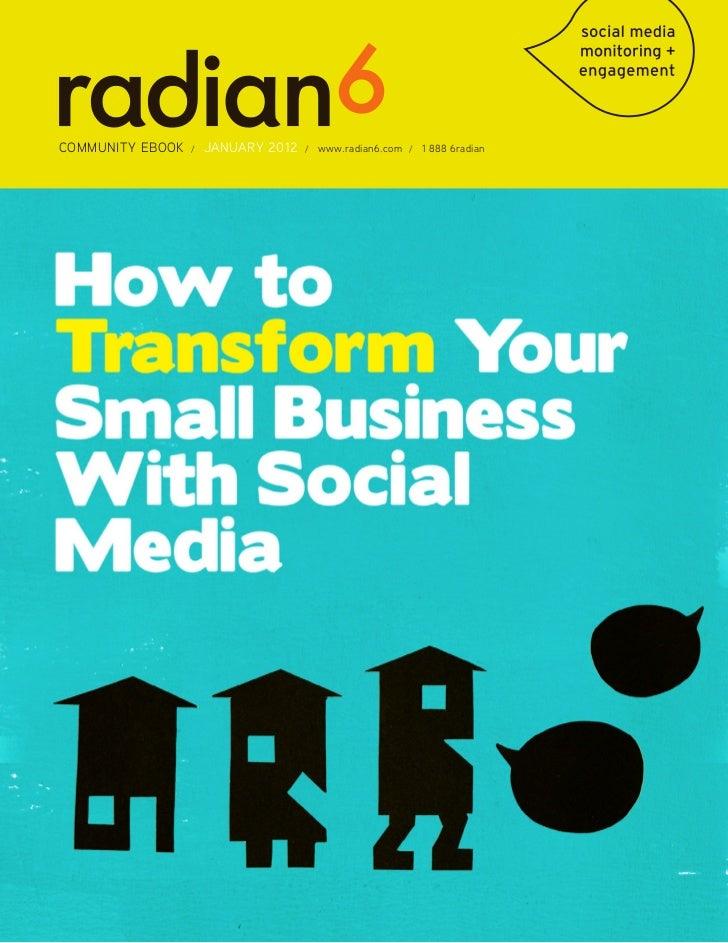Marketing en Redes Sociales Ebook Radian 6