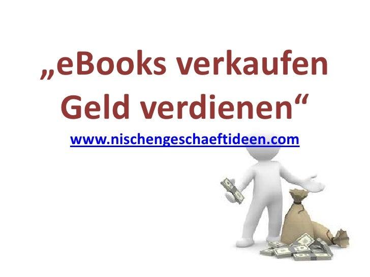 PLR eBook verkaufen - Geld verdienen