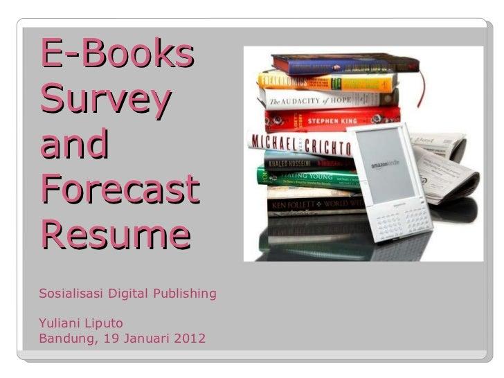 eBook Survey and Forecast Resume