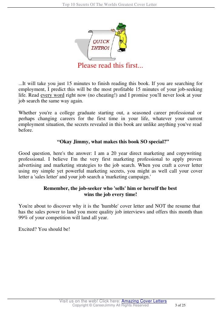 Resume Cover Letter Secrets Revealed Pdf. resume cover letter ...