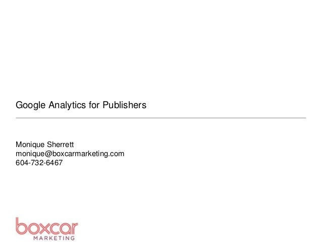 Google Analytics for Publishers