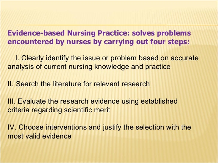 critical thinking and evidence based practice journal of professional nursing Type a term to search within all articles in this journal: eg, stem cell.