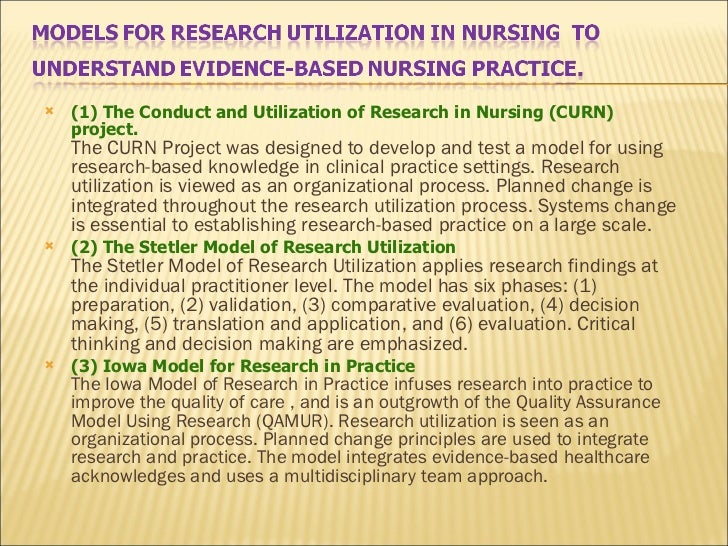 nursing research utilization project essay Targeted papers for nur 443 - evidence based nursing research and practice at the university of phoenix find relevant papers for this class here.