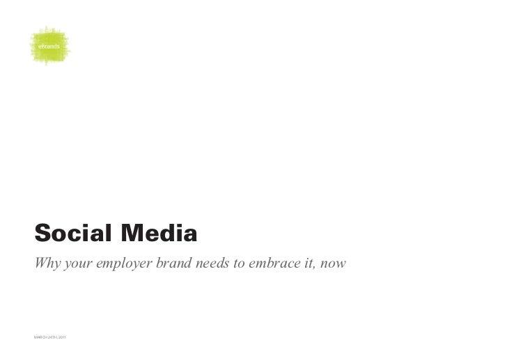 eBrands; social media in employer branding