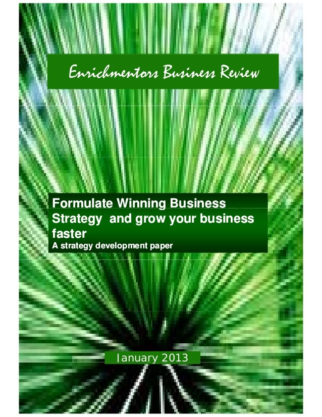 Enrichmentors Business Review Jan 2013
