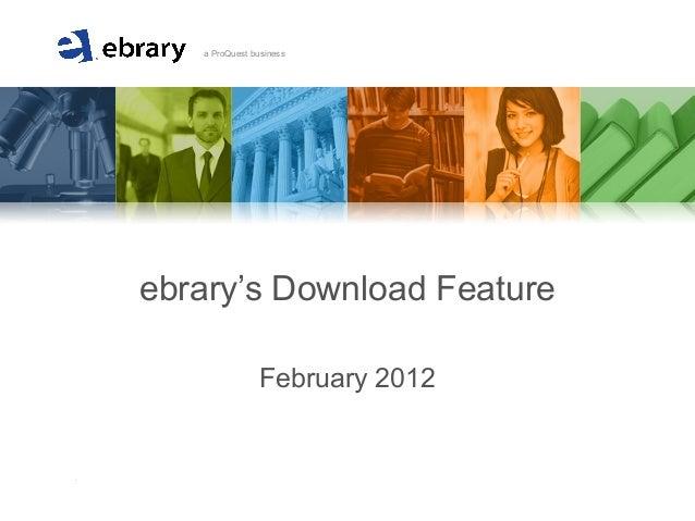 Ebrary downloading